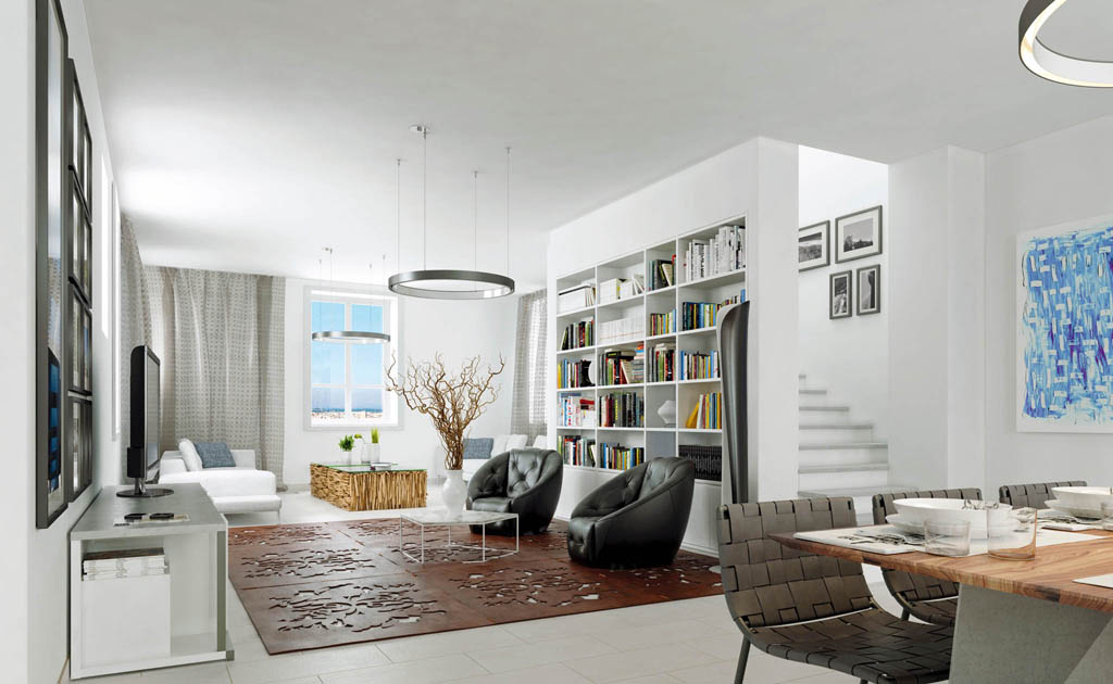 Illustrations 3D rénovation immobilier